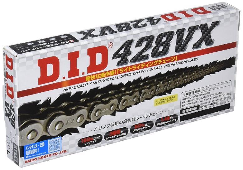 スーパーセール バイク用品 駆動系 チェーン&ドライブベルトDID 428VX スチール 170Lディーアイディー 428VX 取寄品