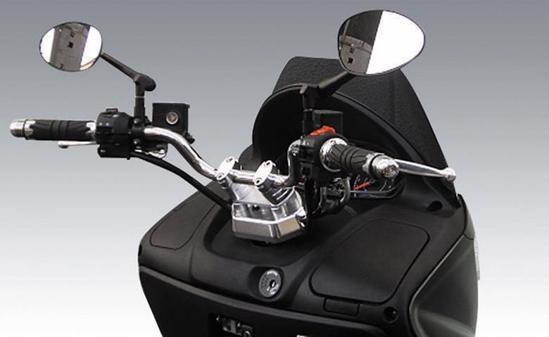 スーパーセール バイク用品 ハンドル トップブリッジ&ハンドルポストキジマ ハンドルブラケットKIT メッキ バーグマン200KIJIMA 205-171 取寄品