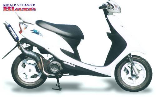 スーパーセール バイク用品 マフラー 2ストマフラー&チャンバーベリアル ブレイズチャンバー RED JOG-ZR 01-BURIAL Y05-03-01 取寄品