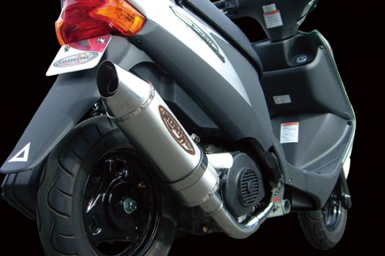 スーパーセール バイク用品 マフラー 4ストフルエキゾーストマフラーベリアル メタルHBスティンガー BLK アドレスV125 -08BURIAL 12360 取寄品
