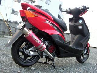バイク用品 マフラー 4ストフルエキゾーストマフラーベリアル メタルHBドラッガー GM シグナスXBURIAL Y17-10-06 取寄品
