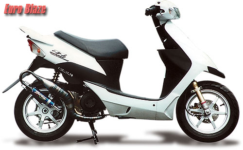 スーパーセール バイク用品 マフラー 2ストマフラー&チャンバーベリアル ユーロブレイズチャンバー BLU スズキZZBURIAL 10351 取寄品