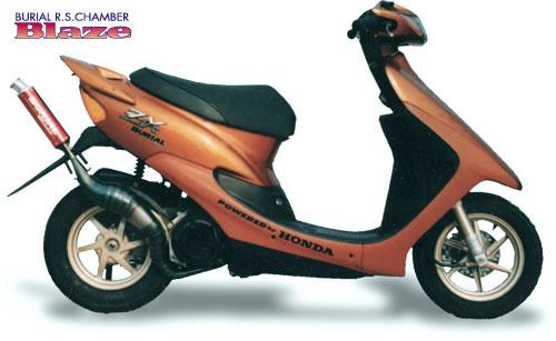 スーパーセール バイク用品 マフラー 2ストマフラー&チャンバーベリアル ブレイズチャンバー RED ライブDIO ZXBURIAL 32568 取寄品