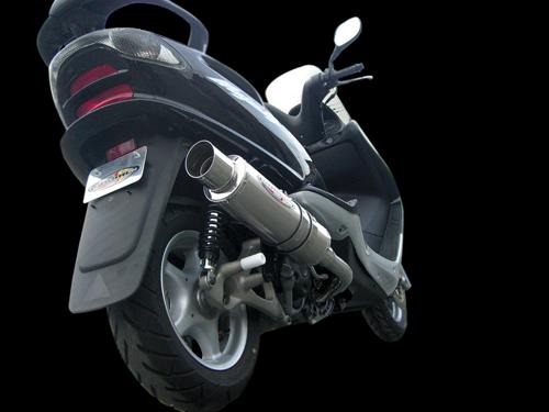 スーパーセール バイク用品 マフラー 4ストフルエキゾーストマフラーベリアル メタルHBドラッガー BLK マジェスティ125BURIAL Y18-10-02 取寄品