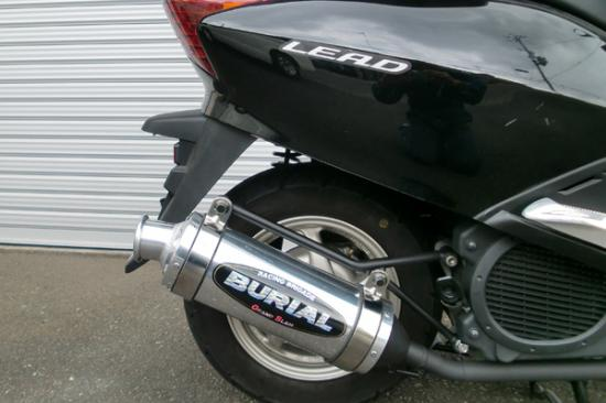 スーパーセール バイク用品 マフラー 4ストフルエキゾーストマフラーベリアル グランドスラムマフラー SLV リード110BURIAL H15-11-00 取寄品