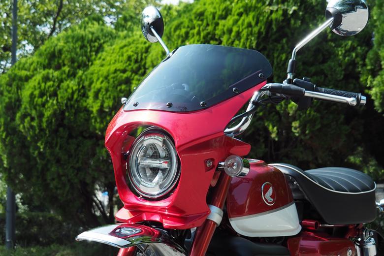 スーパーセール バイク用品 外装 カウルワールドウォーク ビキニカウル エアロスモーク パールネビュラレッド モンキー125WorldWalk DS-07aero-1 取寄品