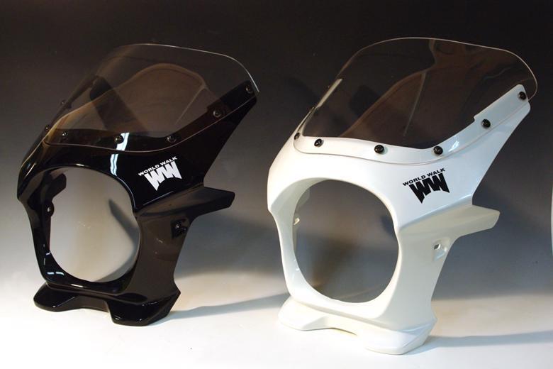 スーパーセール バイク用品 外装 カウルワールドウォーク ビキニカウル タイプR パールミルキーホワイトWorldWalk ds-01r-2 取寄品