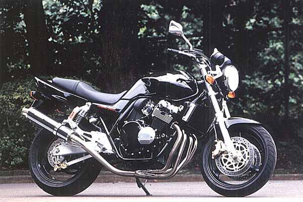 スーパーセール バイク用品 マフラー 4ストフルエキゾーストマフラーストライカー USスーパースポーツ ステン チタン STD CB400SF VTEC SPEC2 3 SB 99-07STRIKER 2351MT 取寄品
