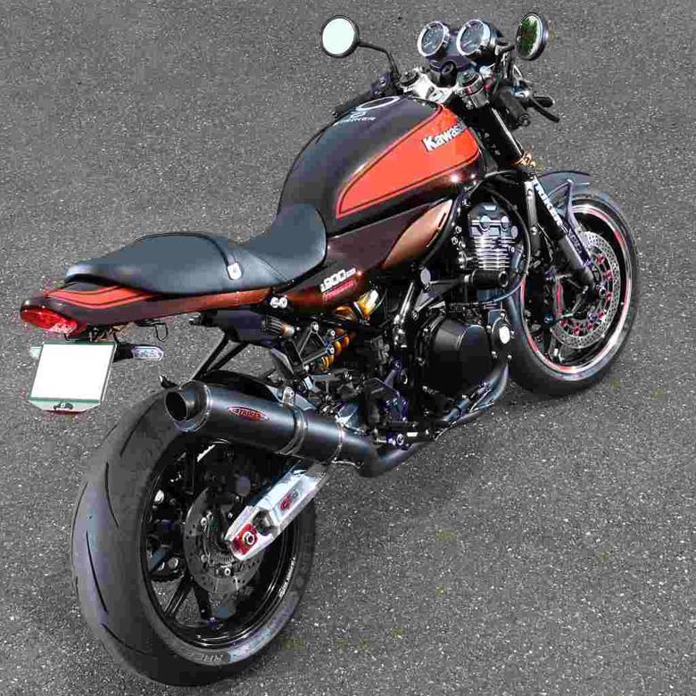スーパーセール バイク用品 マフラー 4ストフルエキゾーストマフラーストライカー SC フルEX 真円 チタンブラック Z900RS 18STRIKER 91411WJ-BK 取寄品