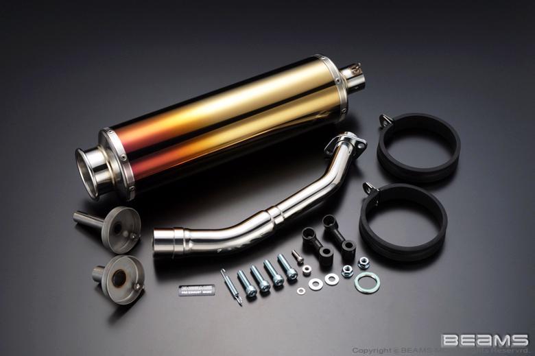 スーパーセール バイク用品 マフラー 4ストフルエキゾーストマフラービームス SS400チタン2 MAJESTY250 4HC -97BEAMS B204-18-000 取寄品