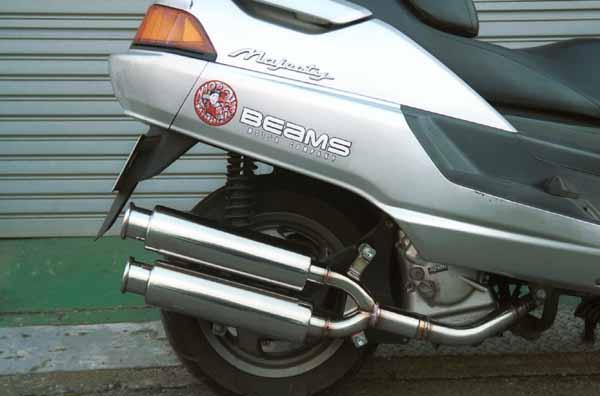 バイク用品 マフラー 4ストフルエキゾーストマフラービームス ツインスパーク マジェ250キュウガタBEAMS B204-13-000 取寄品