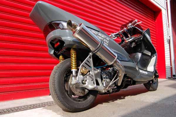 スーパーセール バイク用品 マフラー 4ストフルエキゾーストマフラービームス デルソルGTステン アップタイプ MAJESTY250 00-BEAMS B205-24-001 取寄品