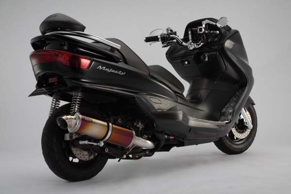 セール バイク用品 マフラー 4ストフルエキゾーストマフラービームス デルソルSS チタン ダウン MAJESTY250 C ABSBEAMS B205-28-002 取寄品
