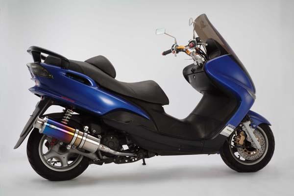 スーパーセール バイク用品 マフラー 4ストフルエキゾーストマフラービームス SS400チタンSP JMCA MAJESTY125 5CABEAMS J207-12-000 取寄品
