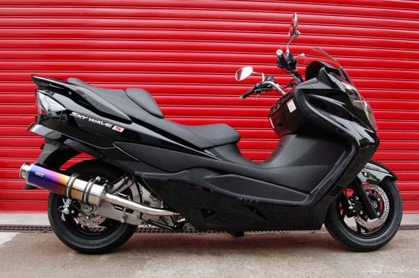 スーパーセール バイク用品 マフラー 4ストフルエキゾーストマフラービームス SS400チタン-SP JMCA SKYWAVE CJ44BEAMS J310-12-000 取寄品
