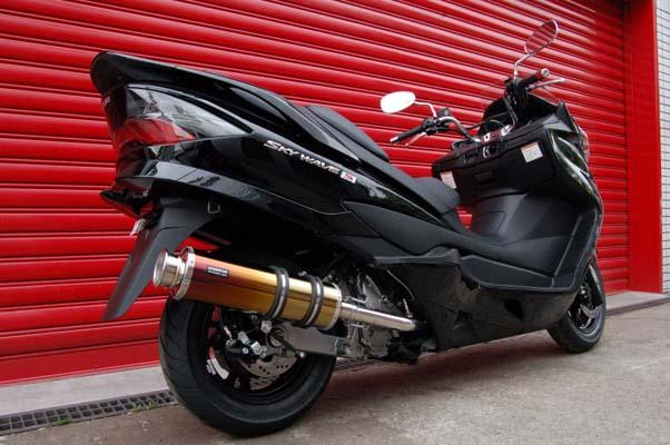 スーパーセール バイク用品 マフラー 4ストフルエキゾーストマフラービームス SS400チタンII-SP JMCA SKYWAVE CJ44BEAMS J310-18-000 取寄品