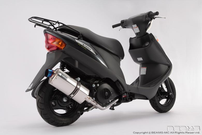 スーパーセール バイク用品 マフラー 4ストフルエキゾーストマフラービームス シェイプスクエア ADDRESS V125 09- EBJ-CF4EABEAMS B316-60-000 取寄品