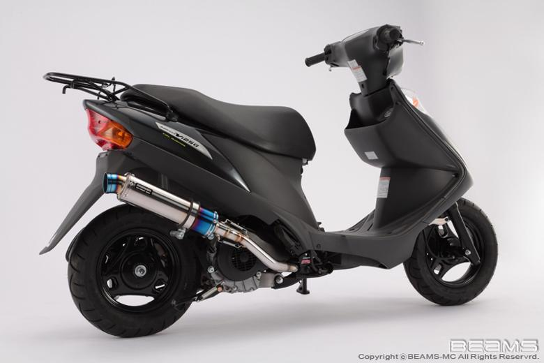 スーパーセール バイク用品 マフラー 4ストフルエキゾーストマフラービームス R-EVOSP チタンサイレンサー ADDRESS V125 09- EBJ-CF4EABEAMS G316-53-007 取寄品