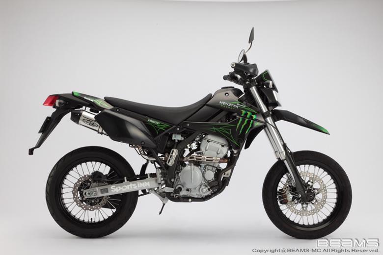スーパーセール バイク用品 マフラー 4ストフルエキゾーストマフラービームス CROSS EVO フルエキ D-trackerX 08- LX250VBEAMS B407-53-006 取寄品