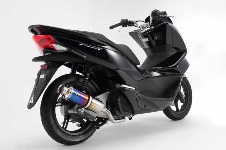 スーパーセール バイク用品 マフラー 4ストフルエキゾーストマフラービームス SS300チタンSP PCX150 14 JBK-KF18BEAMS G166-09-000 取寄品