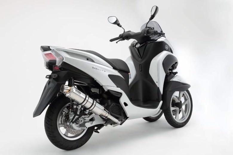 スーパーセール バイク用品 マフラー 4ストフルエキゾーストマフラービームス R-EVO ステンレスサイレンサーSP TRICITY EBJ-SE82JBEAMS G235-53-008 取寄品