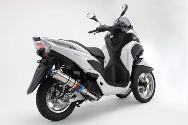 スーパーセール バイク用品 マフラー 4ストフルエキゾーストマフラービームス R-EVO チタンサイレンサーSP TRICITY EBJ-SE82JBEAMS G235-53-007 取寄品