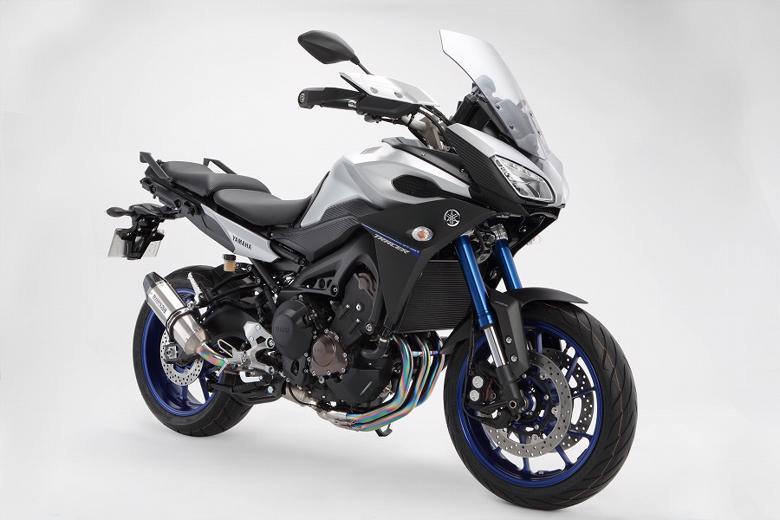 スーパーセール バイク用品 マフラー 4ストフルエキゾーストマフラービームス CORSA-EVOIIチタン フルエキ MT-09TRACER EBL-RN36JBEAMS G240-65-T1J 取寄品
