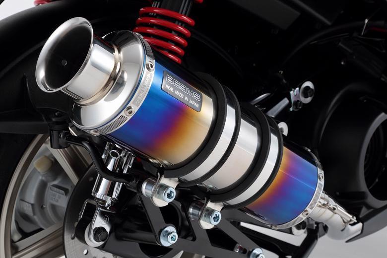 スーパーセール バイク用品 マフラー 4ストフルエキゾーストマフラービームス SS300ヒートチタンSP シグナスX 16-(国内用)BEAMS G241-06-000 取寄品