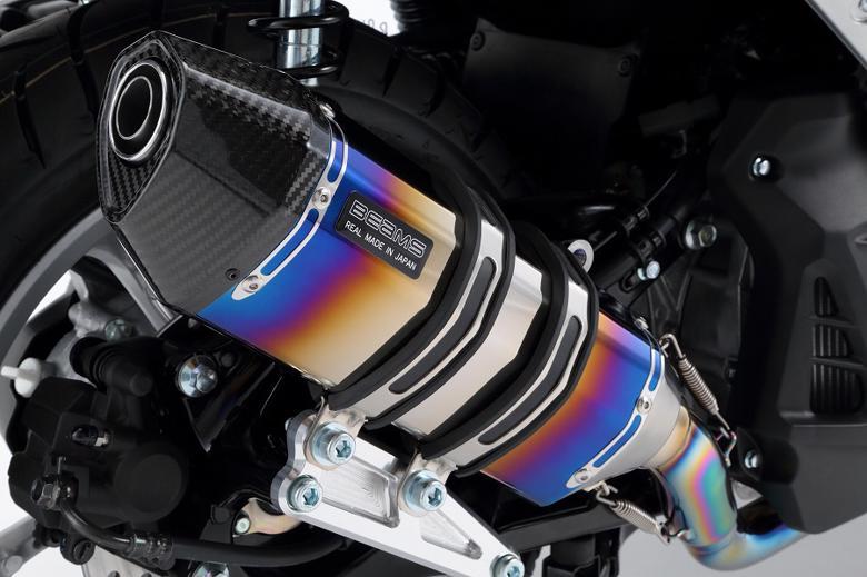 バイク用品 マフラー 4ストフルエキゾーストマフラービームス CORSA-EVOII ヒートチタン NMAX EBJ-SE86JBEAMS G244-65-001 取寄品