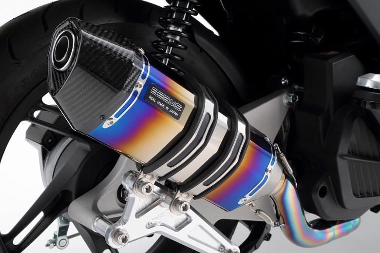 バイク用品 マフラー 4ストフルエキゾーストマフラービームス CORSA-EVOIIヒートチタン PCX150BEAMS G145-65-001 取寄品