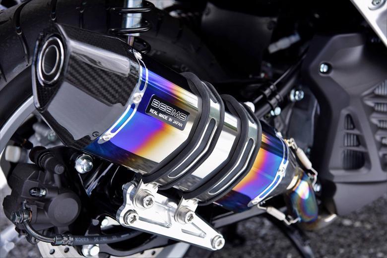 スーパーセール バイク用品 マフラー 4ストフルエキゾーストマフラービームス CORSA-EVOII ヒートチタン NMAX155 2BK-SG50JBEAMS G252-65-001 取寄品