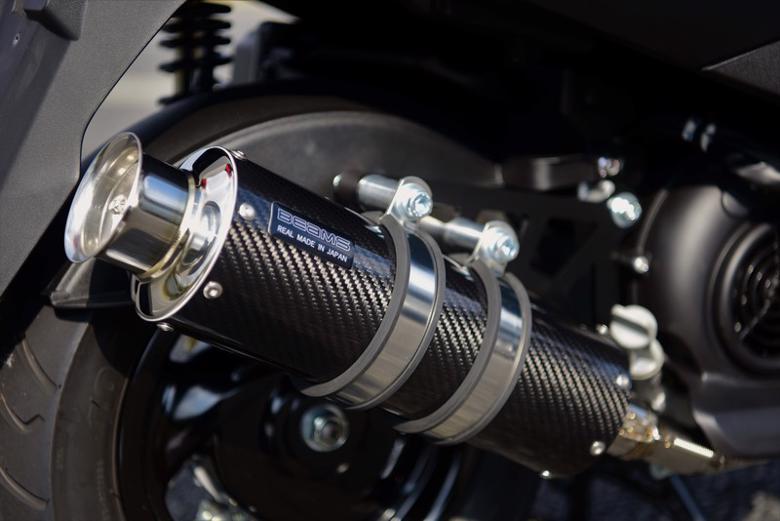 スーパーセール バイク用品 マフラー 4ストフルエキゾーストマフラービームス SS300カーボンSP アクシスZ 17-BEAMS G255-08-000 取寄品