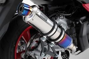 スーパーセール バイク用品 マフラー 4ストフルエキゾーストマフラービームス R-EVO ヒートチタン マジェスティS 18-BEAMS G260-53-007 取寄品