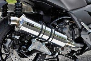 スーパーセール バイク用品 マフラー 4ストフルエキゾーストマフラービームス R-EVO ステンレスサイレンサー X-MAX250BEAMS G259-53-008 取寄品