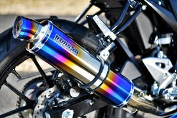 バイク用品 マフラー 4ストフルエキゾーストマフラービームス R-EVO ヒートチタン GSX-R125 S125BEAMS G340-53-S1J 取寄品