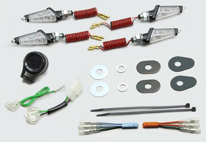 セール バイク用品 電装系 ウインカー&ウインカーバルブハリケーン LEDダガーウインカー BK CL GROM 13HURRICANE HA5231BC 取寄品