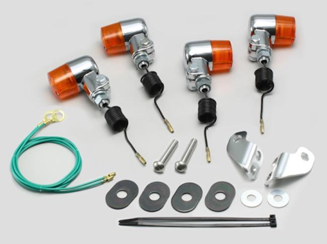 バイク用品 電装系 ウインカー&ウインカーバルブハリケーン ミニウインカーkit オレンジレンズ セロー225(97-04) ブロンコ SL230(12V15W球に交換が必要)HURRICANE HA5704-02 取寄品