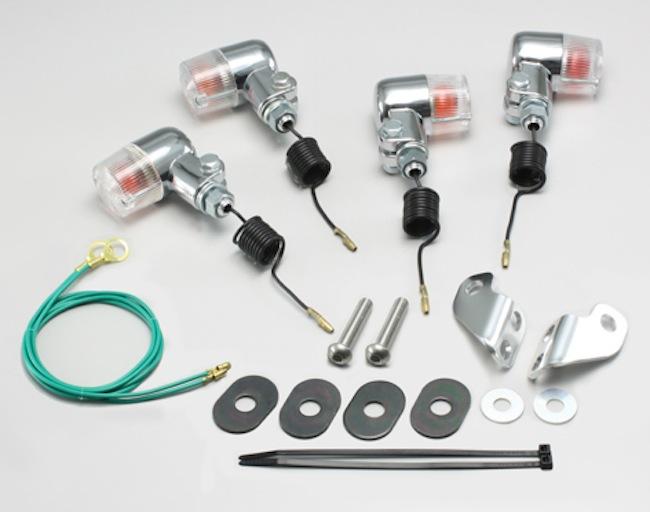 バイク用品 電装系 ウインカー&ウインカーバルブハリケーン ミニウインカーkit クリアレンズ セロー225(97-04) ブロンコ SL230(12V15W球に交換が必要)HURRICANE HA5704C-02 取寄品