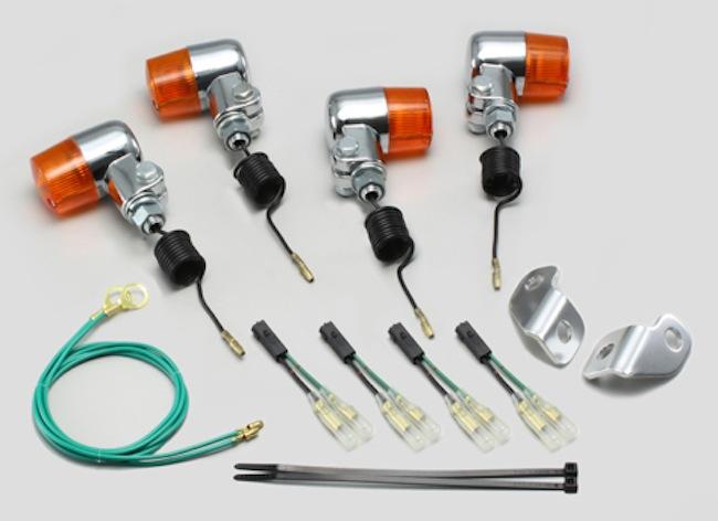 バイク用品 電装系 ウインカー&ウインカーバルブハリケーン ミニウインカーkit オレンジレンズ 250TR(07- FI) 250TR(-06)HURRICANE HA5711-02 取寄品