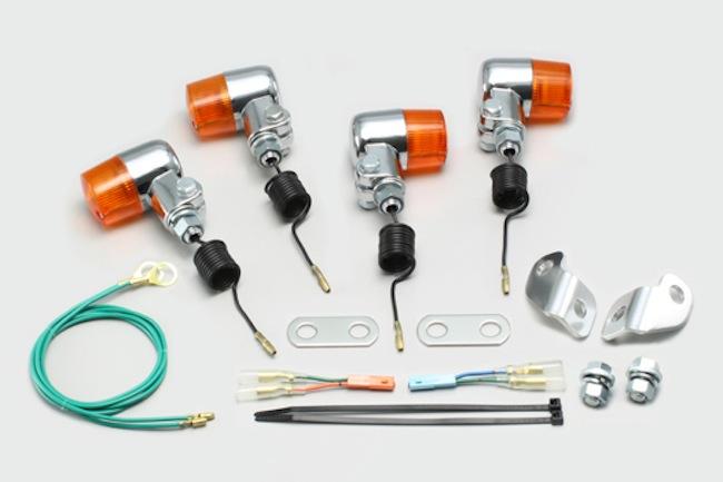 セール バイク用品 電装系 ウインカー&ウインカーバルブハリケーン ミニウインカーkit オレンジレンズ エイプ100(09- HC07-1600001-) TypeD (09- HC13)HURRICANE HA5717-01 取寄品