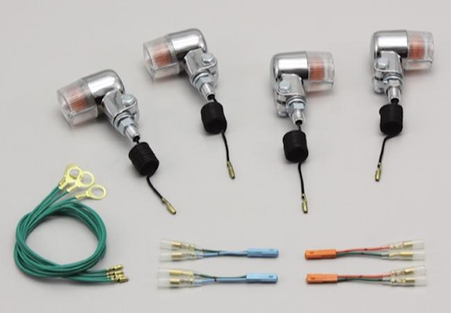バイク用品 電装系 ウインカー&ウインカーバルブハリケーン ミニウインカーkit クリアレンズ CB1100(-13 SC65)HURRICANE HA5720C-01 取寄品