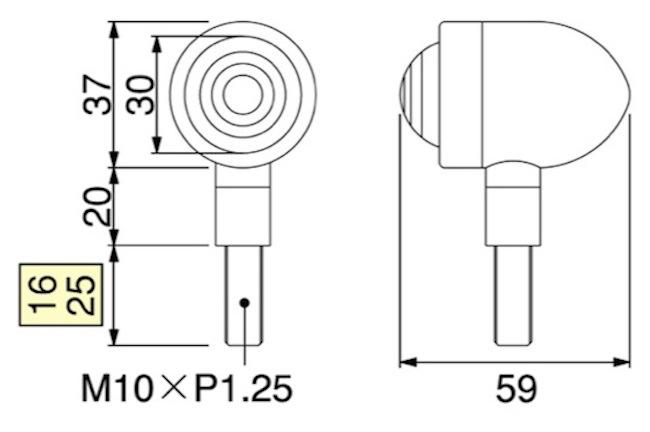 バイク用品 電装系 ウインカー&ウインカーバルブハリケーン ミニブレットウインカーkit オレンジレンズ TW200(-98 角型ヘッドライト車)HURRICANE HA5301-02 取寄品
