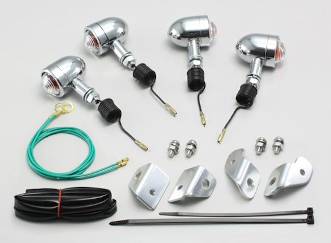 バイク用品 電装系 ウインカー&ウインカーバルブハリケーン ミニブレットウインカーkit クリアレンズ ズーマー(AF58)HURRICANE HA5312C-01 取寄品