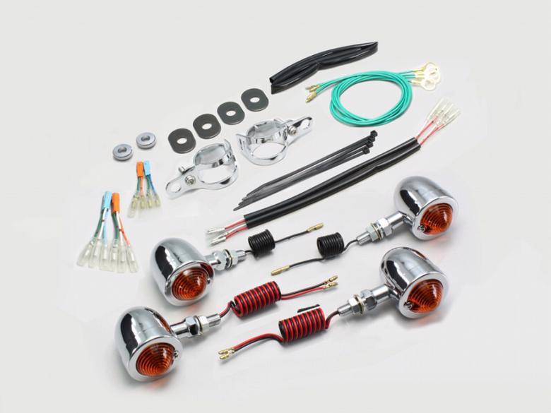 バイク用品 電装系 ウインカー&ウインカーバルブハリケーン ブレットウインカーkit オレンジレンズ レブル250(MC49) レブル500(PC60)HURRICANE HA5351 取寄品