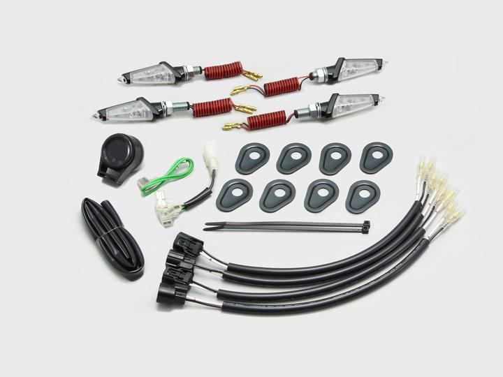 バイク用品 電装系 ウインカー&ウインカーバルブハリケーン LEDダガーウインカーキット BK C Z900RSHURRICANE HA5232BC 取寄品