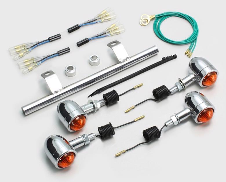 セール バイク用品 電装系 ウインカー&ウインカーバルブハリケーン ミニブレットウインカーKIT OR BOLT CスペックHURRICANE HA5449 取寄品