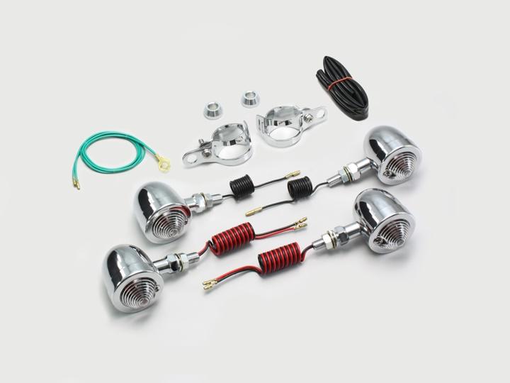 バイク用品 電装系 ウインカー&ウインカーバルブハリケーン ブレットウインカーキット バルカンHURRICANE HA5517C-01 取寄品