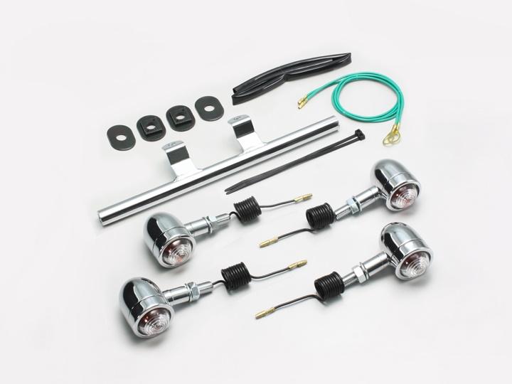 バイク用品 電装系 ウインカー&ウインカーバルブハリケーン ミニブレットウインカーキット シャドウSHURRICANE HA5430C-01 取寄品