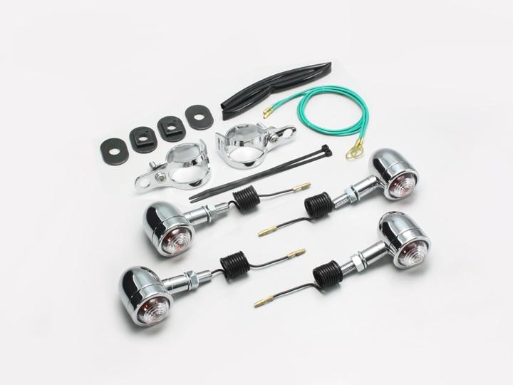 バイク用品 電装系 ウインカー&ウインカーバルブハリケーン ミニブレッドウィンカー クリア SHADOW400 750HURRICANE HA5431C-01 取寄品