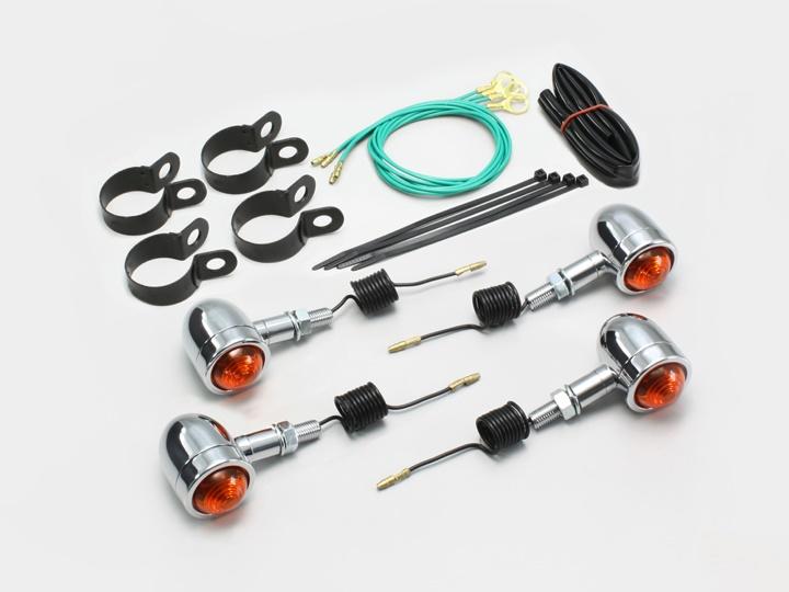 バイク用品 電装系 ウインカー&ウインカーバルブハリケーン ミニブレットウインカーキット オレンジ DS400HURRICANE HA5428-01 取寄品